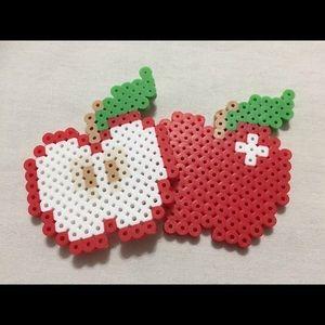 Cute Fridge Magnets - Apple Fruit Healthy Eating